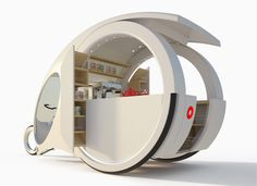 A' Design Award and Competition - Images of Bike Break Electric Trike by Chiara Minì Stand Design, Booth Design, Mobile Kiosk, Mobile Cafe, Food Cart Design, Electric Trike, Food Kiosk, Kiosk Design, Exhibition Stall