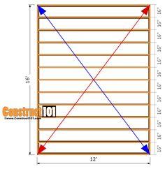 12x16 shed plans - floor frame