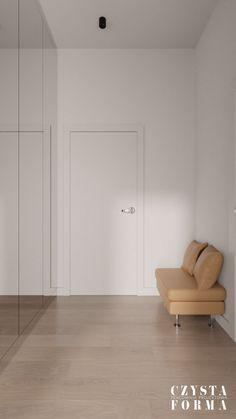 Modern hallway / Mirror in hallway / Modern entryway / Portfolio projektowanie wnętrz lublin   Czysta forma   Projektowanie wnętrz Lublin, Warszawa Stone, Wood, Modern, Home Decor, Rock, Trendy Tree, Decoration Home, Woodwind Instrument, Room Decor