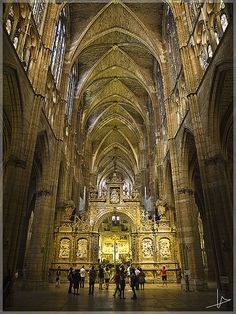 Inside Cathedral of Leon