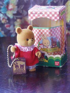 Vintage Cutie Japanese Ban Dai Bear with by cobaltbluedragon, (la aldea del arce)