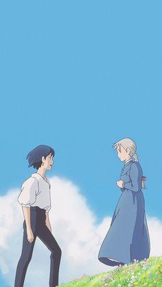 Manga Anime, Anime Art, Anime Guys, Howls Moving Castle Wallpaper, Howl's Moving Castle, Studio Ghibli Art, Studio Ghibli Movies, Studio Ghibli Quotes, Howls Moving Castle