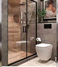 We offer bespoke bathroom design & installation. Bathroom Design Luxury, Modern Bathroom Decor, Modern Bathroom Design, Washroom Design, Small Bathroom Vanities, Tiny Bathrooms, Scandinavian Bathroom, Toilet Design, Bathroom Layout