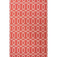 Jaipur Rugs FlatWeave Geometric Pattern Red/Ivory Wool Area Rug UB28 (Rectangle)