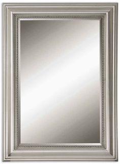 Stuart Silver Beaded Mirror By Uttermost