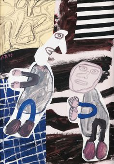 Jean Dubuffet (French, 1901-1985), Echange d'opinions, 26 September 1979. Acrylic on paper, 51 x 35 cm.