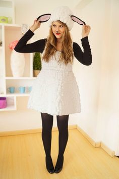 This DIY sheep costume by Marie of The Joy of Fashion is too cute for words, so save up your cotton balls and check out her easy step-by-step guide.