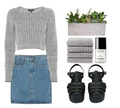 """""""Grey"""" by dreamerxcx ❤ liked on Polyvore featuring moda, Christy, Chanel e rag & bone"""