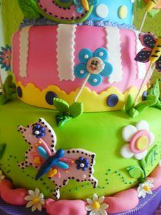 Tortas lisbesita: Torta Flores y Mariposas