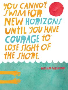 New Horizons Hand-Lettered Quote - Lisa Congdon Archival Art Print