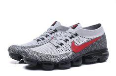 595d0cbfd8a Cheap Nike Air VaporMax 2018 AA Mens shoes Gray Red