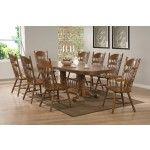Coaster Furniture - Brooks Oak 9 Piece Extension Dining Table Set - 104271-104272-104273-9SET