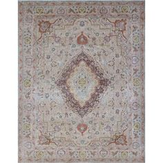 Noori Rug Kerim Beige/Brown Distressed Overdyed Rug (9'7 x 12'4) - Free Shipping Today - Overstock.com - 22297566