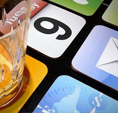 Three sets of iPhone Apps Coasters are now available to make your coffee table look like a giant iPad. Apps, App Support, Guerilla Marketing, Ios App, Iphone App, Innovation, Alcoholic Drinks, Coasters, Gadgets