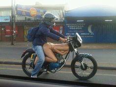 Motorbike-naked lady body
