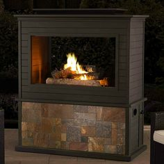 Complete your outdoor living room with the Liquid Propane Outdoor Fireplace Patio Backyard Heater. This outdoor. Liquid Propane Outdoor Fireplace Patio Backyard Heater Features The powder coat finish provides a luxe look strong enough. Natural Gas Outdoor Fireplace, Outdoor Propane Fireplace, Propane Fire Pit Table, Concrete Fire Pits, Wood Burning Fire Pit, Patio Gazebo, Aluminum Patio, Studio, Outdoor Rooms