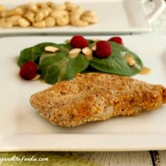Garlic Cashew Crusted Pork Chops, grain free and low carb. beautyandthefoodie.com