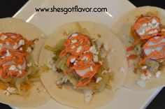 Amazing Fish Tacos with Spicy Mayo Drizzle Recipe | She's Got Flavor