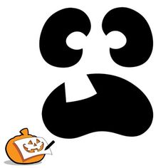 Pumpkin-Carving Template - Spooked Pumpkin Face
