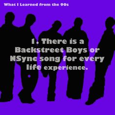 "Backstreet Boys and N'Sync!(:   So true!   They have the first ""As Long As You Love Me"" Which btw is sooooooo much better than that Bieber one!  #90skidsunite!"