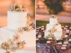 like the flowers spiraling up the cake
