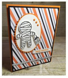 "Faithful INKspirations: The Cutest Little Mummy! is made with Stampin' Up's ""Cookie Cutter Halloween,"" ""Thoughtful Banners,"" and ""Teeny, Tiny Wishes"" stamp sets."