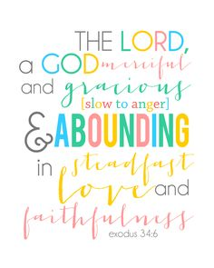 Exodus 34:6 Do you know who God is?