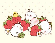 Molang's favorite - strawberries.