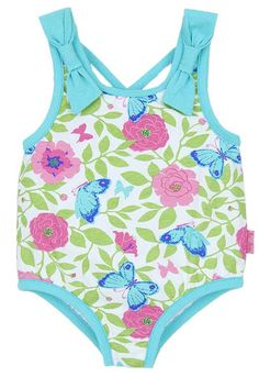 8cdcfb61ebd70 Such a pretty swimsuit for little girls! A butterfly print swimsuit for  infant and toddler