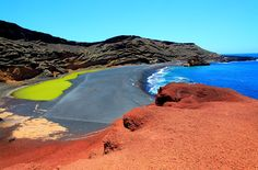 Green Lagoon on Lanzarote, Canary Islands, Spain