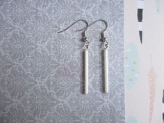 White Glass Piped Earrings - Free Shipping US