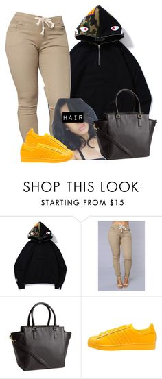 """""""Untitled #480"""" by princess-miyah ❤ liked on Polyvore featuring H&M and adidas Originals"""