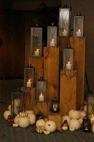 Lanterns on top of 4x4 posts