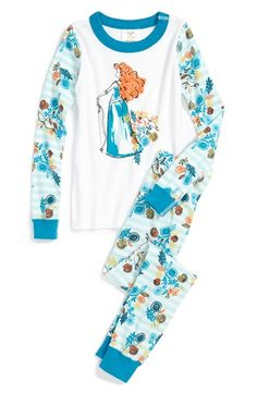 Hanna Andersson 'Disney™ Princess - Merida' Two-Piece Fitted Pajamas (Toddler Girls) available at #Nordstrom