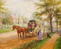 A Sunday Visit, 1906, by EDWARD LAMSON HENRY (1841-1919)