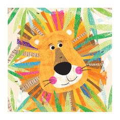 Oopsy Daisy Peeking Jungle Buddies - Lion Canvas Art | AllModern