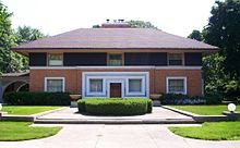 Wright, Frank Lloyd - encyclopedia article about Wright, Frank Lloyd.// William H. Winslow House (1893) in River Forest, Illinois