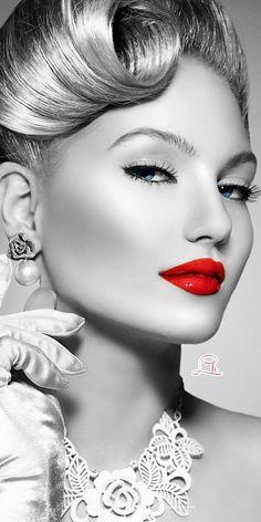 Touch Of Fashion: Photo Splash Photography, Portrait Photography, Fashion Photography, Color Splash, Color Pop, Colour, White Picture, Lip Art, Anime Art Girl