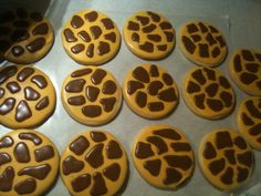 Giraffe Sugar Cookies