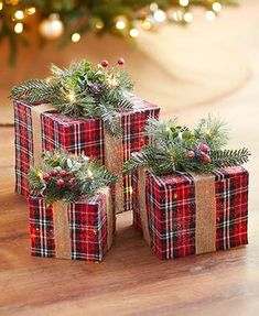 New Arrivals|LTD Commodities Christmas Gift Box, Plaid Christmas, Holiday Gifts, Christmas Holidays, Xmas, Black And White Dining Room, Seasonal Decor, Holiday Decor, Ltd Commodities
