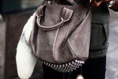 Studded hobo bag #streetstyle