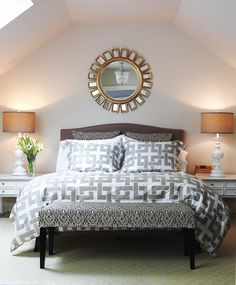 A very lofty bedroom which I would like to take a nap in!