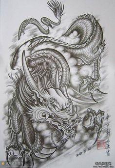 Bildergebnis für dragon tattoo vorlagen