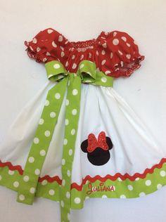 Minnie Mouse Christmas Dress Minnie Christmas Dress Minnie Dress by BoogerbearPunkinpooh