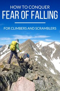 Is your fear of heights holding you back from tackling sweet alpine scrambles and difficult Colorado Try these 11 mind tricks to conquer fear of falling. via all the climbing equipments in one place Hiking Tips, Hiking Gear, Backpacking Tips, Hiking Backpack, Backpack Bags, Fitness Workouts, Fear Of Falling, Hiking Training, Hiking Essentials