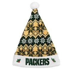 Green Bay Packers 2015 NFL Team Logo Holiday Knit Santa Hat