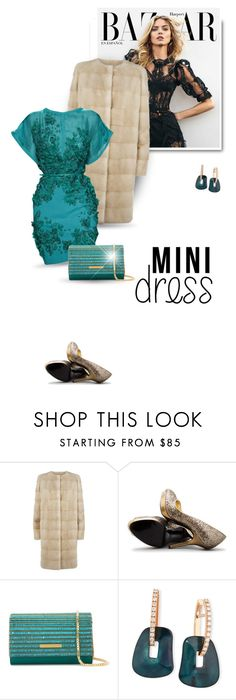 """Holiday Chic: Mini Dresses"" by bliznec ❤ liked on Polyvore featuring ESCADA, Elie Saab, Nina, Mattioli, minidress, polyvoreeditorial and polyvorecontest"