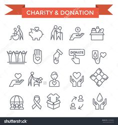 stock-vector-charity-donation-and-volunteer-work-concept-icons-thin-line-flat-design-610996865.jpg (1500×1600)