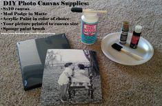 From Memories 2 Scrap: EASY Tutorial: DIY Photo Canvas