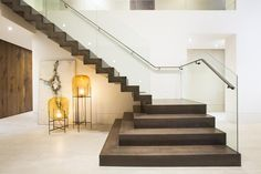 Modern Stairway With Glass Railing